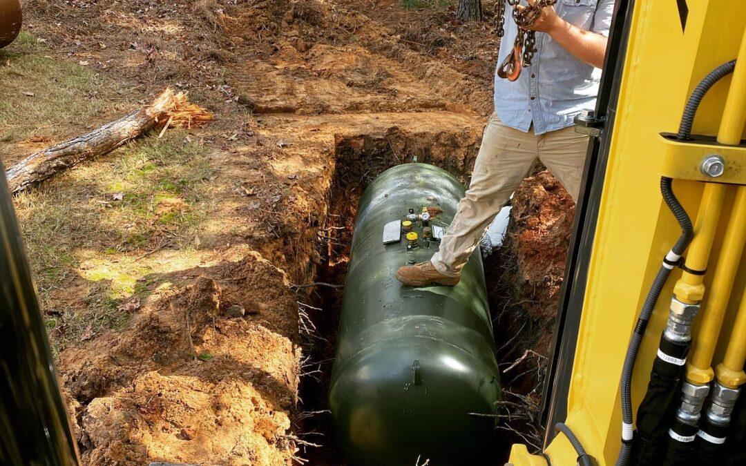 Moving Propane Tank Underground