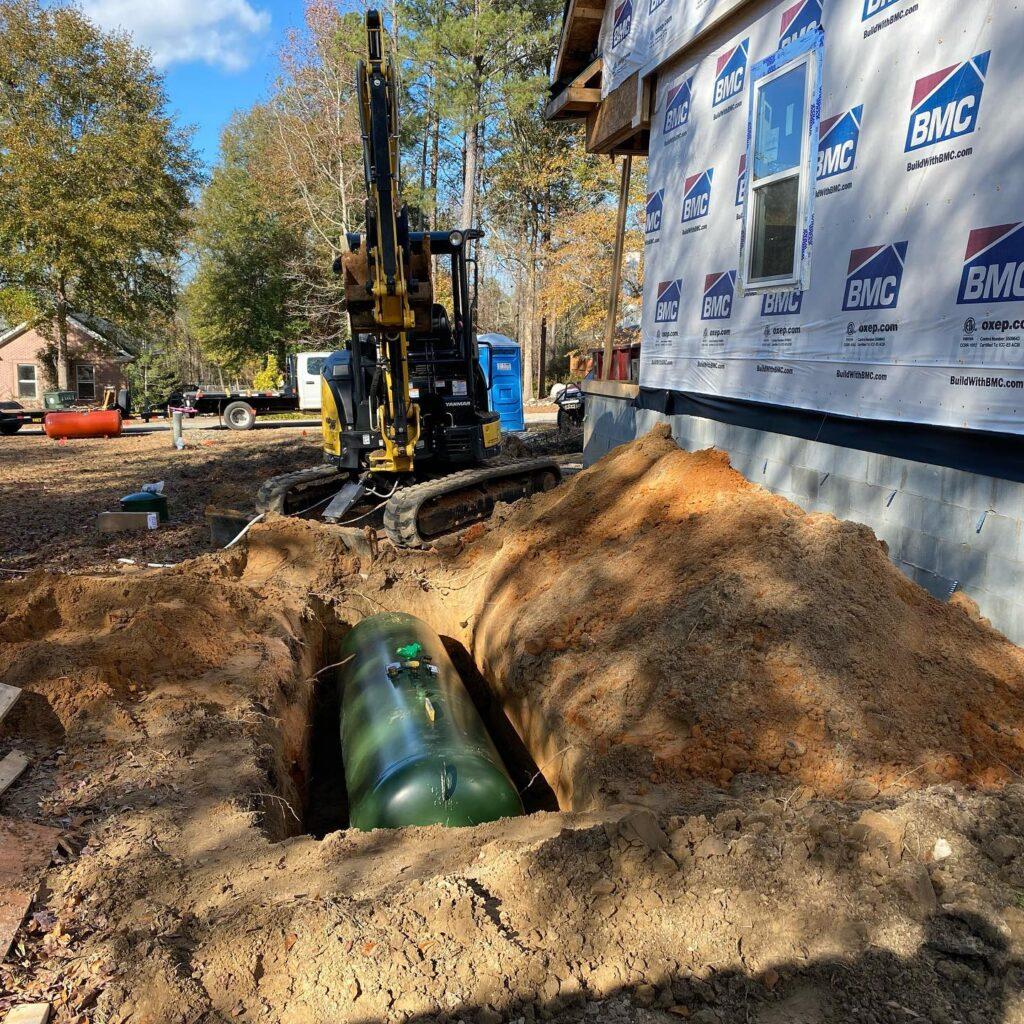 propane gas tank installation byron georgia